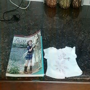 American Girl Saige Shirt and Book